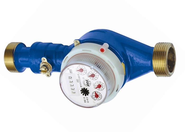 Dry dial multi jet water meter , valve control for prepaid RF IC DN15 - DN25