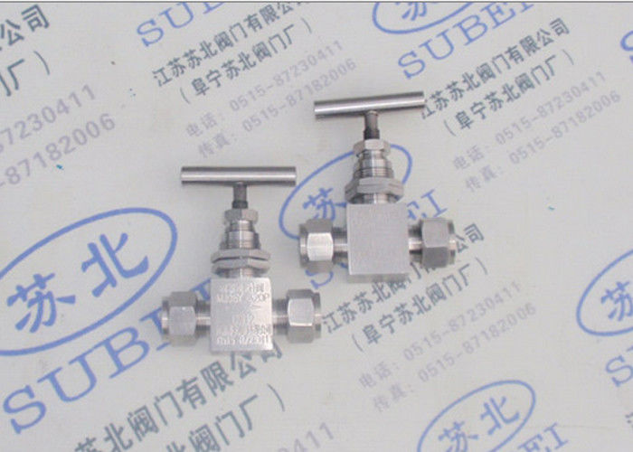 Cutting ferrule SS needle valve for power plant / grooved piping system